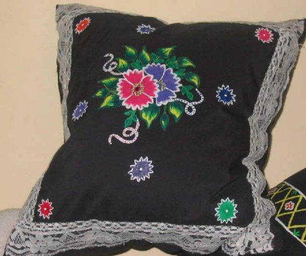 Fabric Painting on a Cushion Cover