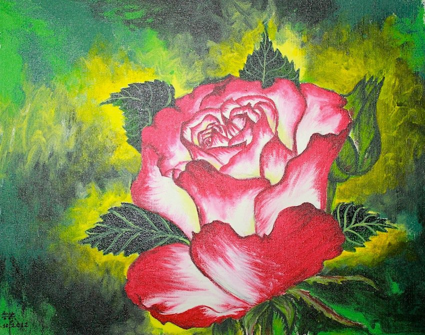 Rose on Green Spread