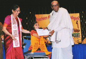 I, receiving the degree certificate and medal from Mrs. Shobha Koser and Sri Deijen Mukherjee