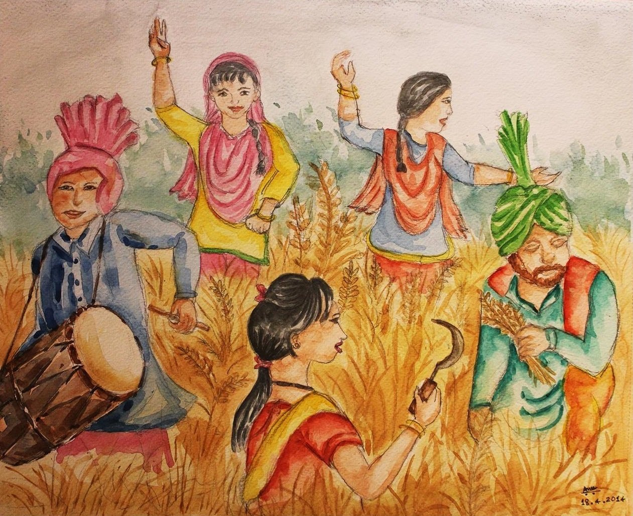 Beshakhi-festival_WaterColor