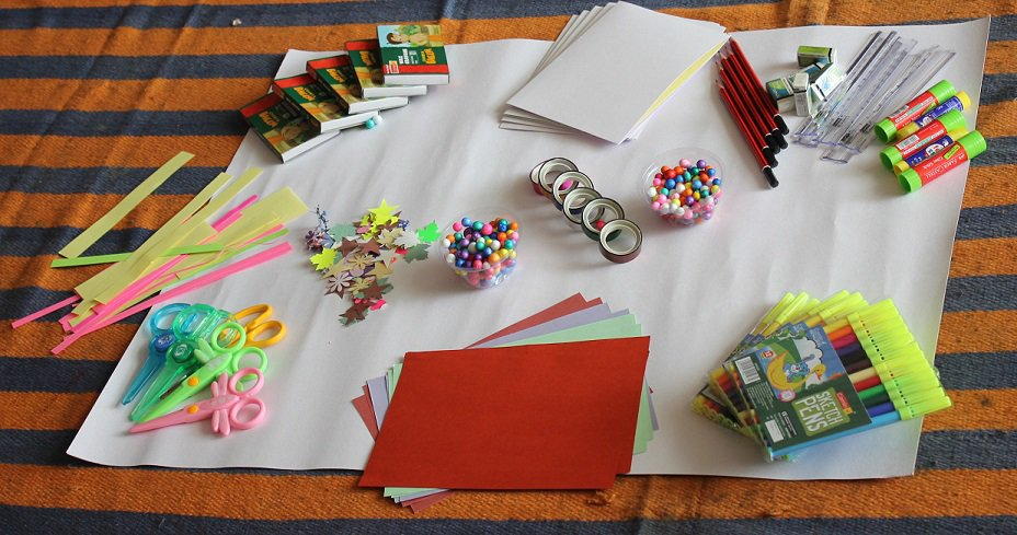 Material for making pop-up greeting cards