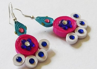 Quilling Earrings - 2