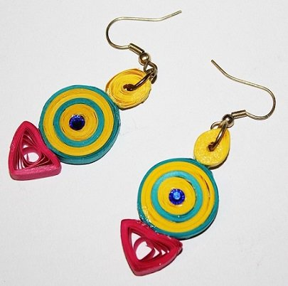 Quilling Earrings - 7