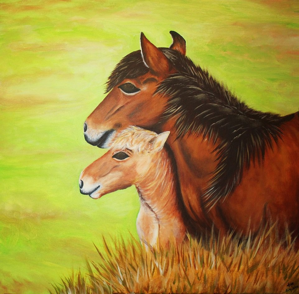 Calm Horses - Mother and Child